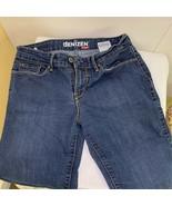 DENIZEN Womens Straight Leg Jeans Blue Medium Wash Stretch Pockets Denim 6 - £9.46 GBP