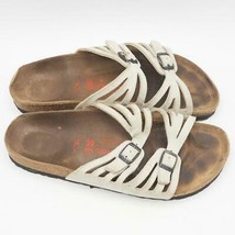 Birkenstock Birkis Femmes Taille 8 US Sandales Glissières Chaussures Cuir Blanc - $59.88