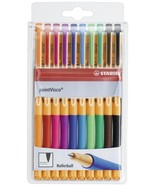 Stabilo Point Visco Rollerball Pens 0.5mm - Assorted Wallet Of 10 (1099/10) - $23.99