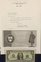 """1977 AUTOGRAPHED $1 FEDERAL RESERVE NOTE BY THE TREASURER & SECRETARY """"C... - $225.00"""