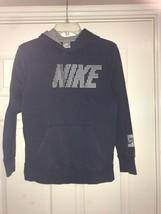 Nike Hoodie Boys Navy Blue Pull Over Hoodie M (10-12) - $21.99