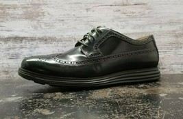 Cole Haan Lunargrand OS Wingtip Shoes Sz 13 M Brown Patent Leather C13707 - $79.19
