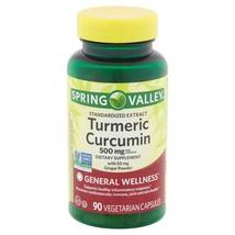 Spring Valley Turmeric Curcumin Vegetarian Capsules, 500 mg, 90 Count.. - $14.84