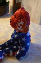 "Vintage Ty Beanie Babies Liberty "" The Bear "" Hang Tag 2001/Tush Tag 2002 Errors image 2"