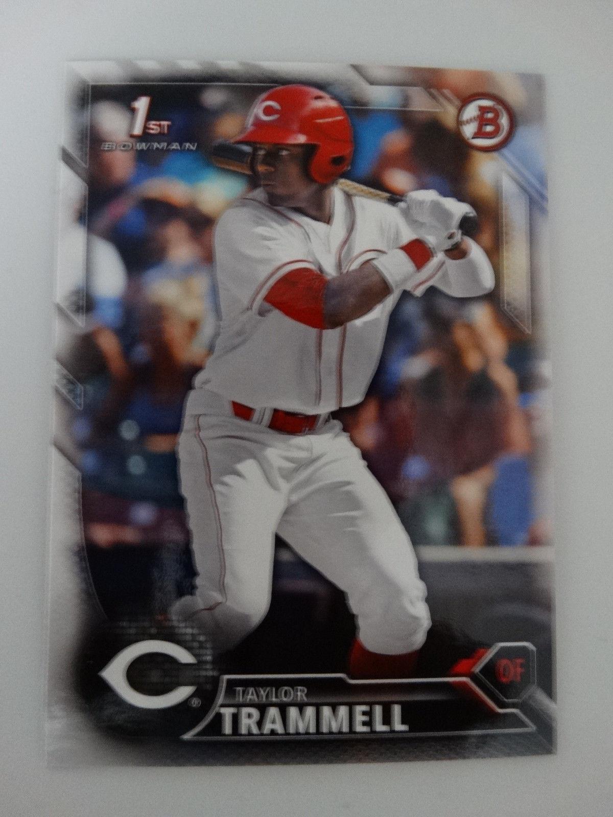 2016 Bowman Draft #BD-13 Taylor Trammell Cincinnati Reds Rookie RC Baseball Card