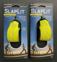 (Lot Of 2) Nite Ize SlapLit Light-Up Bracelet LED Neon Yellow Reflective... - £15.17 GBP