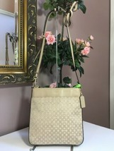 Coach Crossbody Bag Madison 50834 Op Art Beige North South Swingpack B03 - $39.59