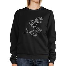 Flower Unisex Sweatshirts Flower Printed Pullover Fleece For Her - $20.99+