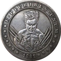 Rare New Hobo Nickel 1881 Morgan Dollar Wolverine Superhero Disney Caste... - $11.99