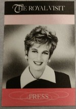 PRINCESS DIANA - VINTAGE ORIGINAL U.S. PRESS PASS FOR ROYAL TRIP TO THE ... - $99.95