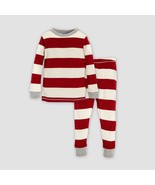 Burt's Bees 0-3 Months Baby Rugby Stripe Pajama Set 2 Piece Infant Cotto... - $14.84