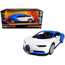 Bugatti Chiron Blue / White Exotics 1/24 Diecast Model Car by Maisto 32509BL/W - $26.99