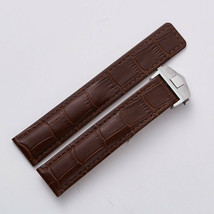 22mm Brown Leather Watch Band Strap With Clasp Made For Bulova Accutron ... - $32.71