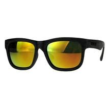 KUSH Sunglasses Wood Textured Square Rectangular Frame Mirror Lens - $10.95