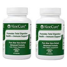 AloeCure Advanced Formula - Twice a Day Aloe Vera Capsule, 2 Pack, 120 Capsules image 2