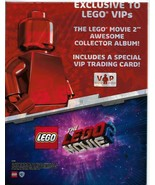 Lego Movie 2 VIP Collector Album Plus 3 Packs New Trading Cards - $19.79