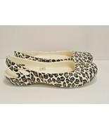 Crocs Leopard Print Sling-backs Slip-on Ballet Flats Women's Size 9 - $24.74