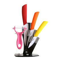Tim Home Kit 4ps Cuchillos de Cocina de Cerámica de Colores, Pelador y B... - $24.98