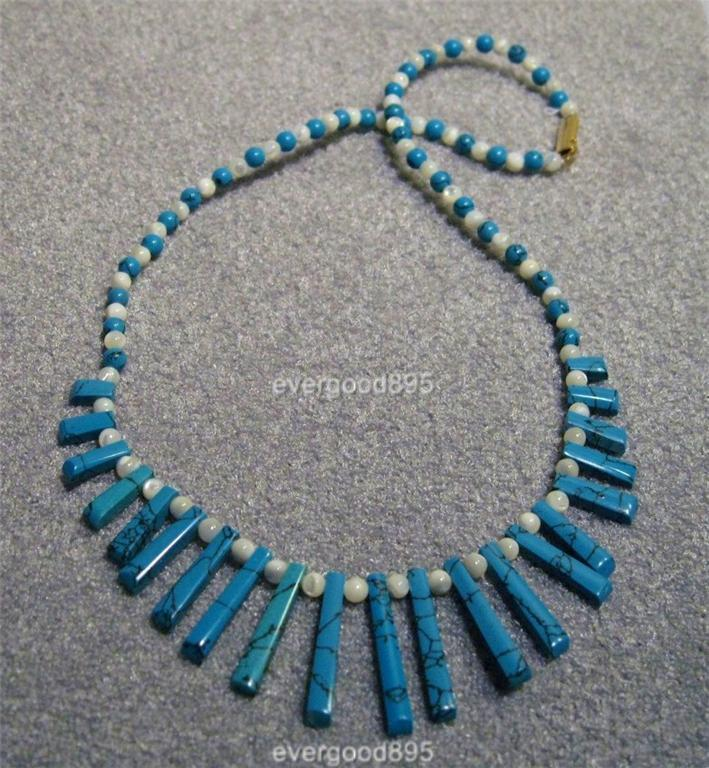 Primary image for Handcraft gems M O P/Turquois EGYPTIAN necklace/Pendant