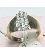 VINTAGE 18KT H. G.F C.Z. WIDE BAND COCKTAIL Ring sz 5-9 - $16.61