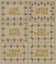 Garden Virtues set of six PDF cross stitch chart John Shirley new designer - $89,02 MXN