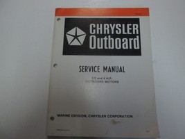 1982 Chrysler Outboard 3.5 4 Hp Service Manual Water Damaged Stained Ob 3783 - $19.79
