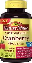 Nature Made Super Strength Cranberry + Vitamin C Softgels Value Size 120 Ct - $20.53