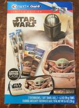 Star Wars The Mandalorian Baby Yoda Crest Oral B Toothbrush Soft Travel ... - $29.69