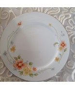 Annabelle Fine China Of Japan Dinner Plate White & Orange Yellow Floral ... - $9.89