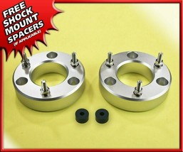 "2"" Front Leveling Lift Kit Silver Strut Spacers Fits 2004-2020 Ford F150... - $49.64"