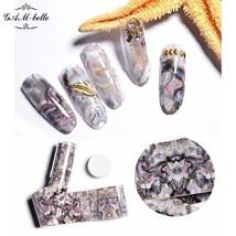 Gam-Belle® Gradient Nail Stickers Foil Holographic Paper Decals Decor Tr... - $2.00