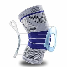 Knee Brace, Knee Support Compression Sleeve with Side Stabilizers + Sili... - $11.55