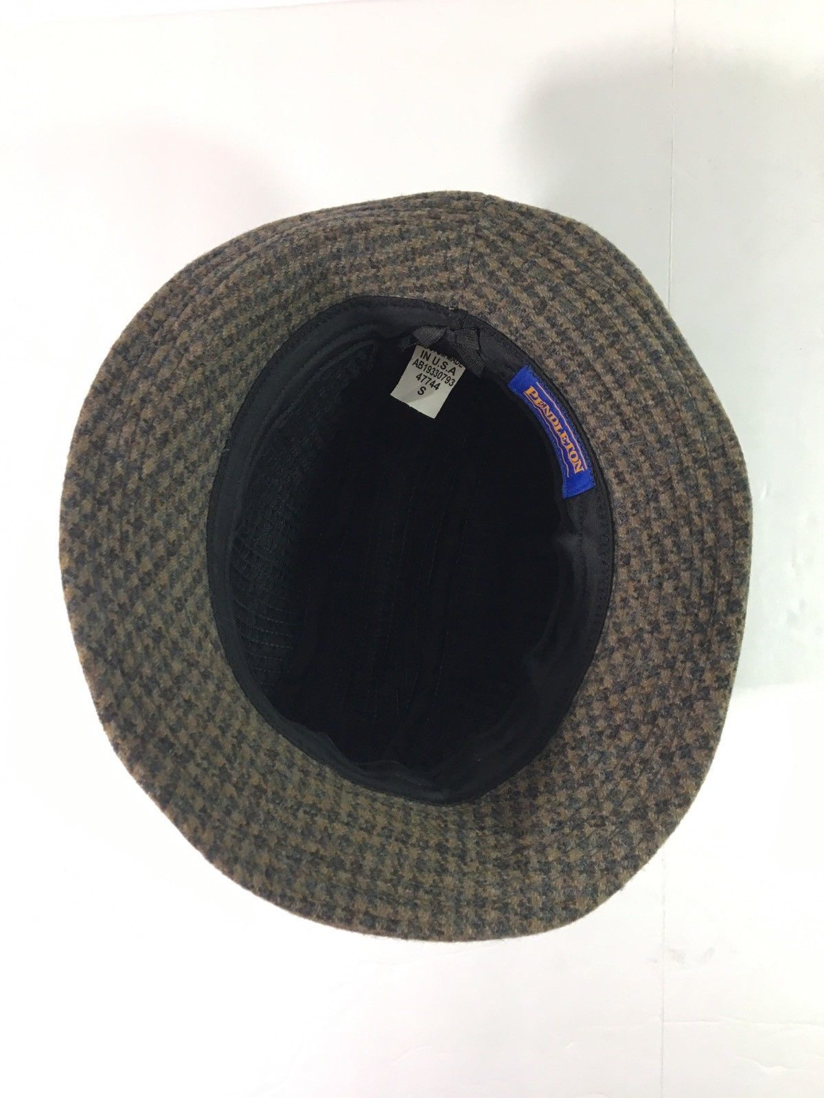 Pendleton Wool Tweed Plaid Fedora Bucket Hat Custom Made in USA Size Small f7b728184171