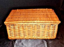 Woven Basket with Lid and Handle AA18 - 1133 Vintage image 4