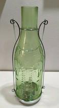 Yankee Candle Glass Green Bottle Tea Light Candle Holder Lantern Handle ... - $23.34