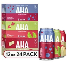 AHA Sparkling Water Variety Pack Apple + Ginger, Lime + Watermelon, Blueberry +