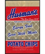 Vintage bag HUSMANS POTATO CHIPS Cincinnati Ohio unused new old stock n-... - $8.99