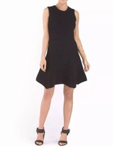 Torn By Ronny Kobo Textured Ribbed Fit & Flare Sleeveless Black Dress Si... - $127.71