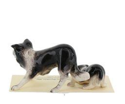 Hagen Renaker Dog Border Collie and Pup Ceramic Figurine Set image 5