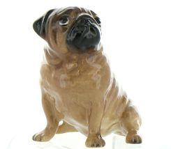 Hagen Renaker Pedigree Dog Pug Large Tan Ceramic Figurine image 9