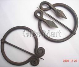2 x Early Medieval Penannular Brooch - Cloak Pin. LARGE, Reenactment Rep... - $12.00