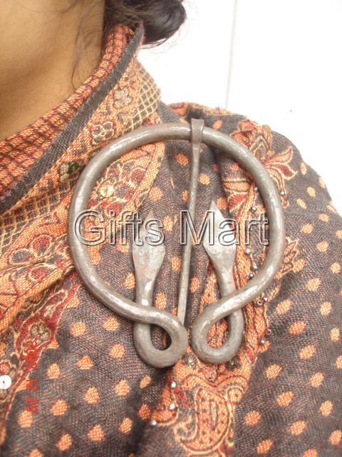2 x Early Medieval Penannular Brooch - Cloak Pin. LARGE, Reenactment Replica Sca