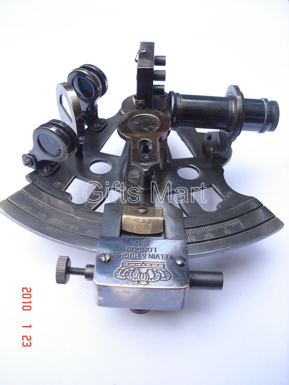 "4"" SEXTANT German SOLID BRASS NAUTICAL Survey,MARINE INSTRUMENT, #Maritime Gift"