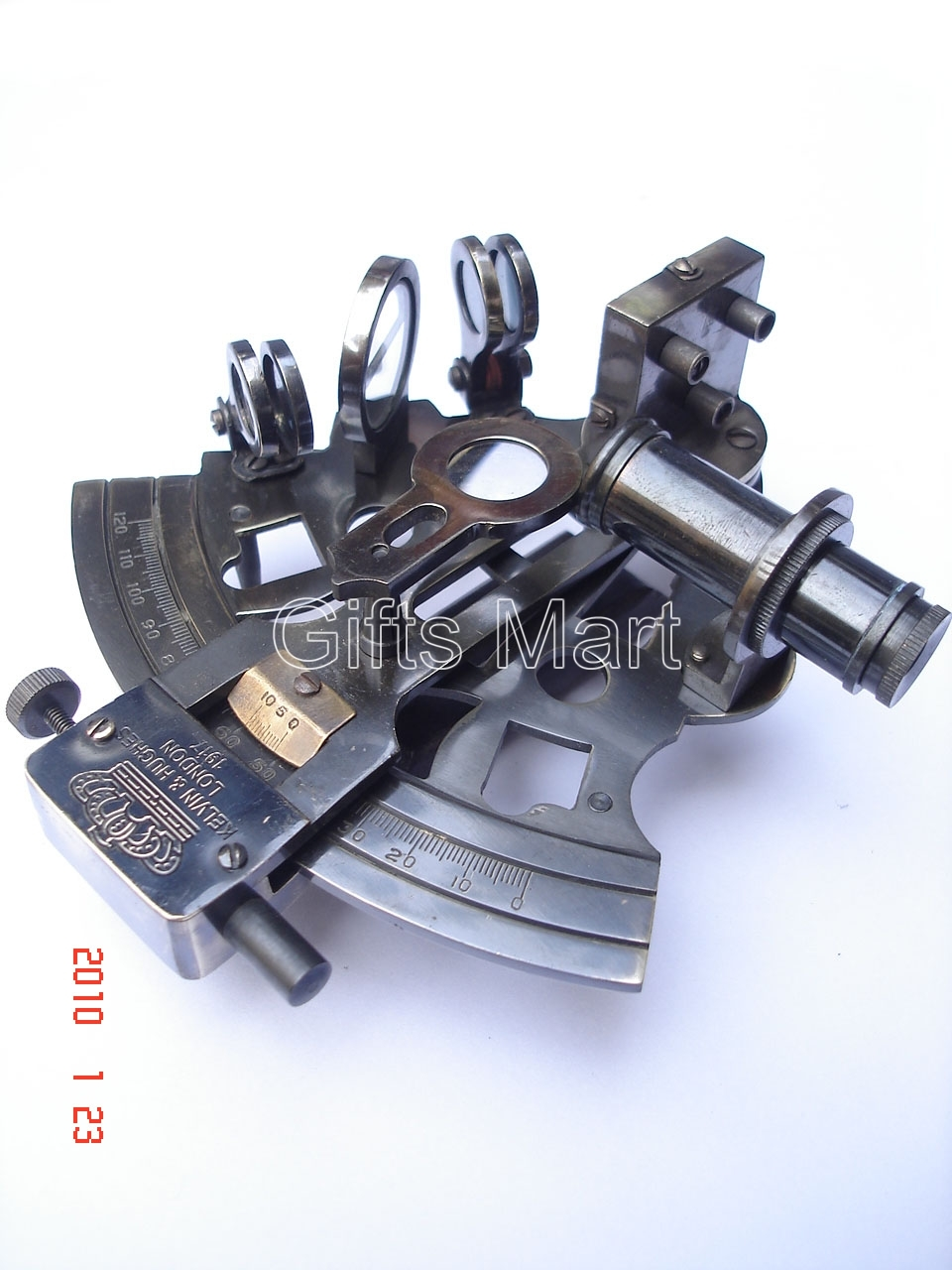 """4"""" SEXTANT SOLID German BRASS NAUTICAL,MARINE INSTRUMENT,Martitme Gifts"""