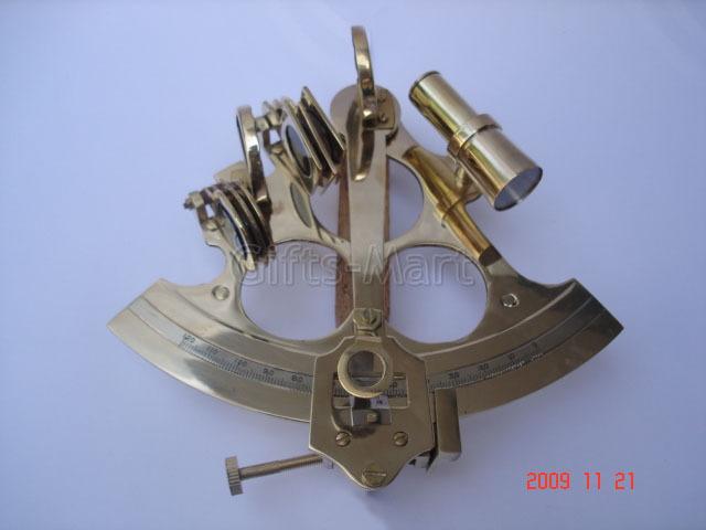 "6"" SEXTANT SOLID BRASS NAUTICAL MARINE INSTRUMENT, Marine Maritime Gift @"