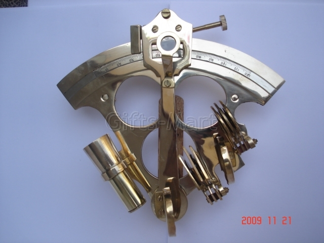 """6"""" SEXTANT SOLID BRASS NAUTICAL MARINE INSTRUMENT, Surveying hobby gifts"""