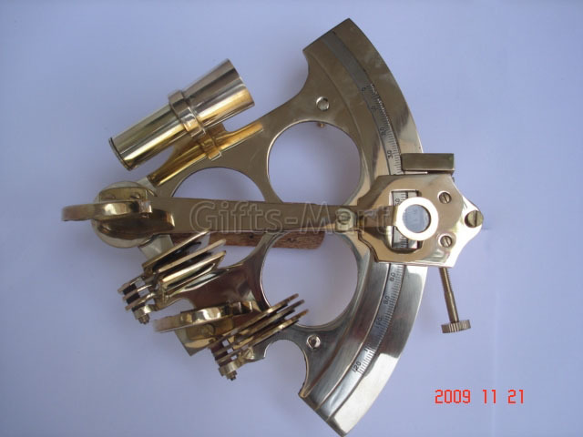 """6"""" SEXTANT SOLID BRASS NAUTICAL MARINE INSTRUMENT,Unique Hobby Idea gift"""