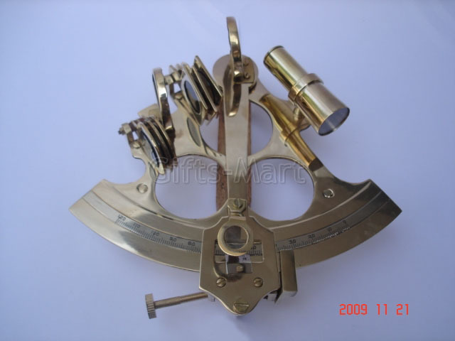 "6"" SEXTANT SOLID BRASS NAUTICAL MARINE INSTRUMENT,Unique New Collectible Gift"