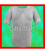 9mm MEDIEVAL M STEEL, BUTTED CHAINMAIL Shirt,HAUBERK(L), Fancy Costume Gift - $43.12