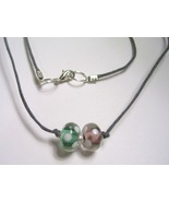Double Duo Gray Cord Necklace - $8.00